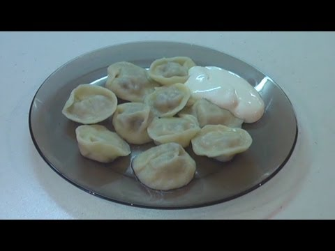 Пельмени с грибами  Готовим дома  Домашнее видео.