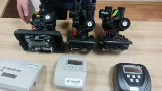 видео Установки и фильтры умягчения воды с автоматическим  блоком Clack WS 1 CI