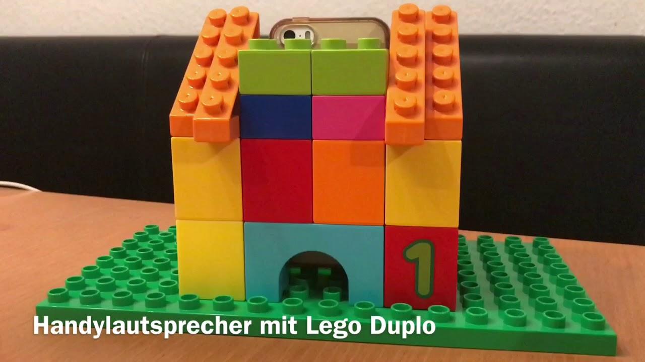 Handylautsprecher mit Lego Duplo selbst gebaut
