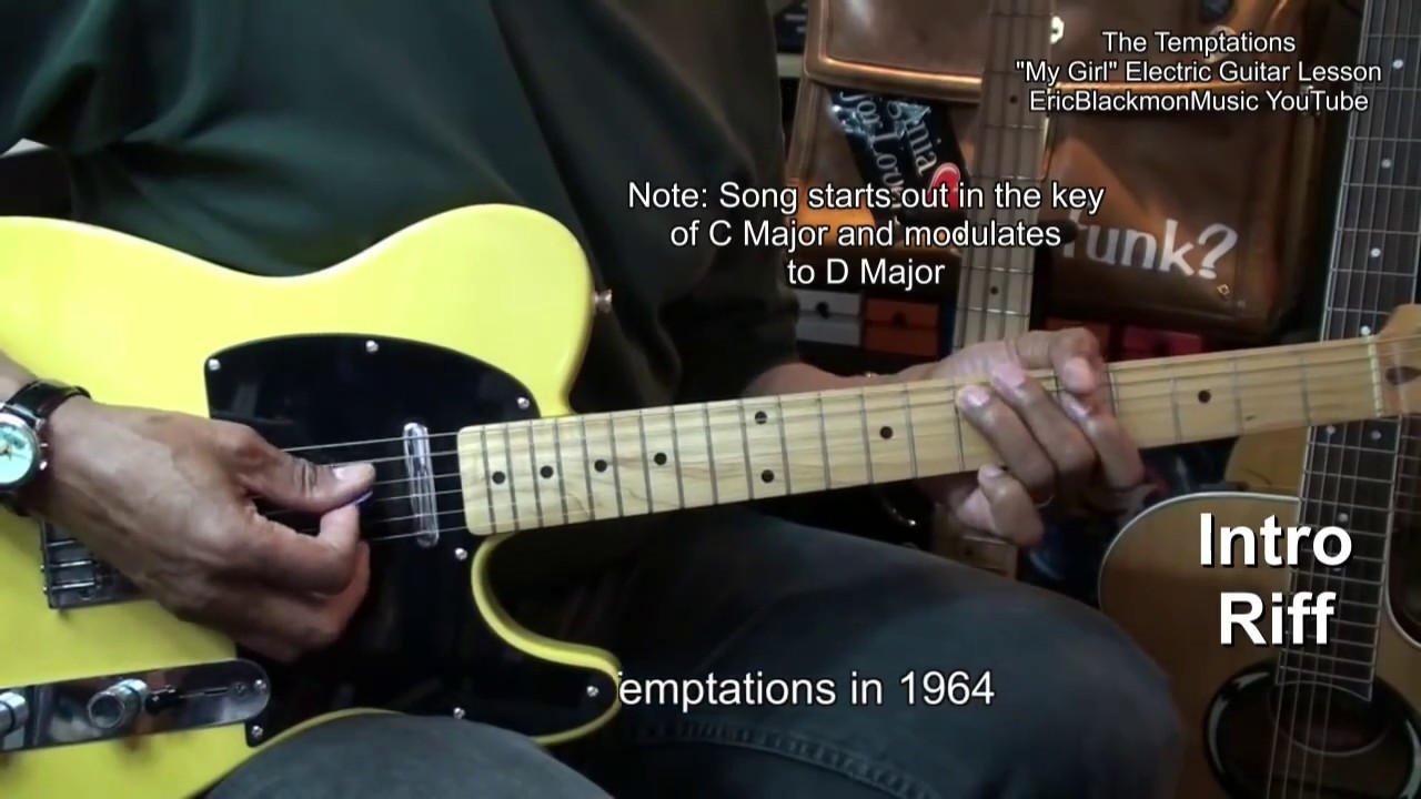 How To Play My Girl The Temptations Motown Electric Guitar Lesson