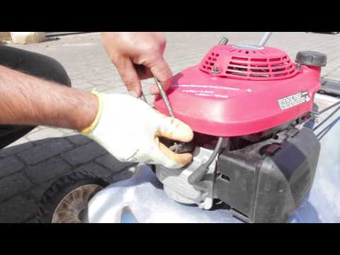 Honda Lawn Mower - Starts, Runs, Cuts out, Stops - Spark-plug Fix tutorial