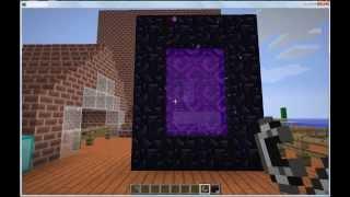 Видео урок по Minecraft Как сделать Портал в АД