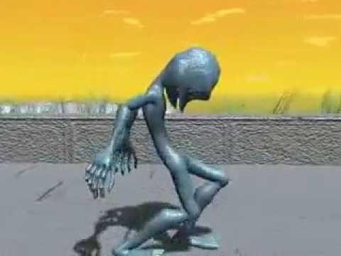Alien dancing funny