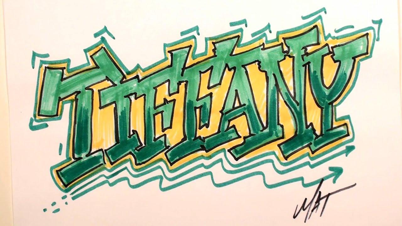 Graffiti writing tiffany name design 7 in 50 names promotion mat youtube