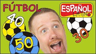 Jugar futbol con números para Niños con Steve and Maggie Español Latino