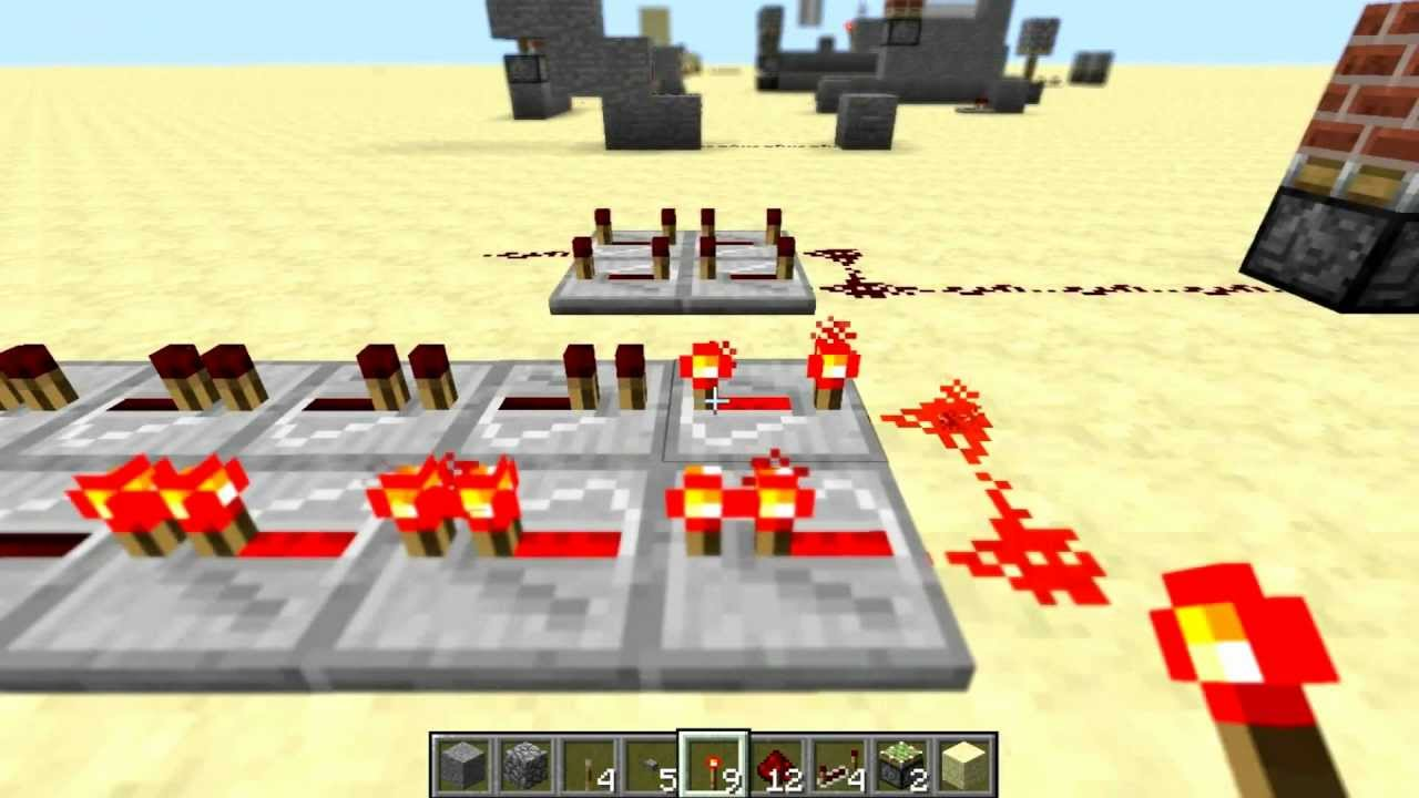 minecraft compact redstone wiring basics 01 hd youtube rh youtube com Redstone Wire Recipe Redstone Active