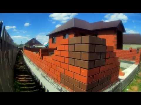 Строительство гаража.из кирпича .часть 2