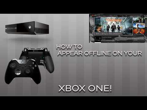 How to change your Xbox One online status to offline/online