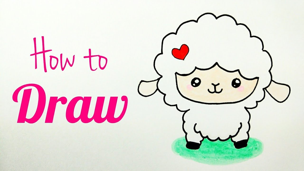 How To Draw Lamb Sheep Sheep Drawing Tutorial For Kids Step By