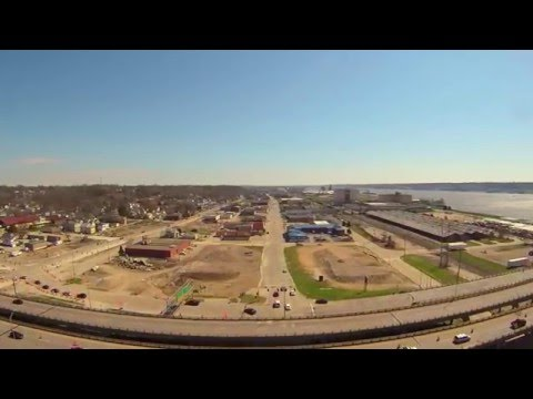 Drone Test: Fly Over of Downtown Bettendorf, IA