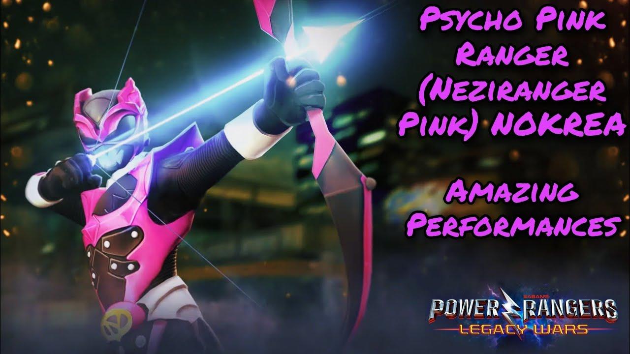 Power Rangers Legacy Wars - Psycho Pink Ranger Nokrea / Neziranger Pink amazing performances