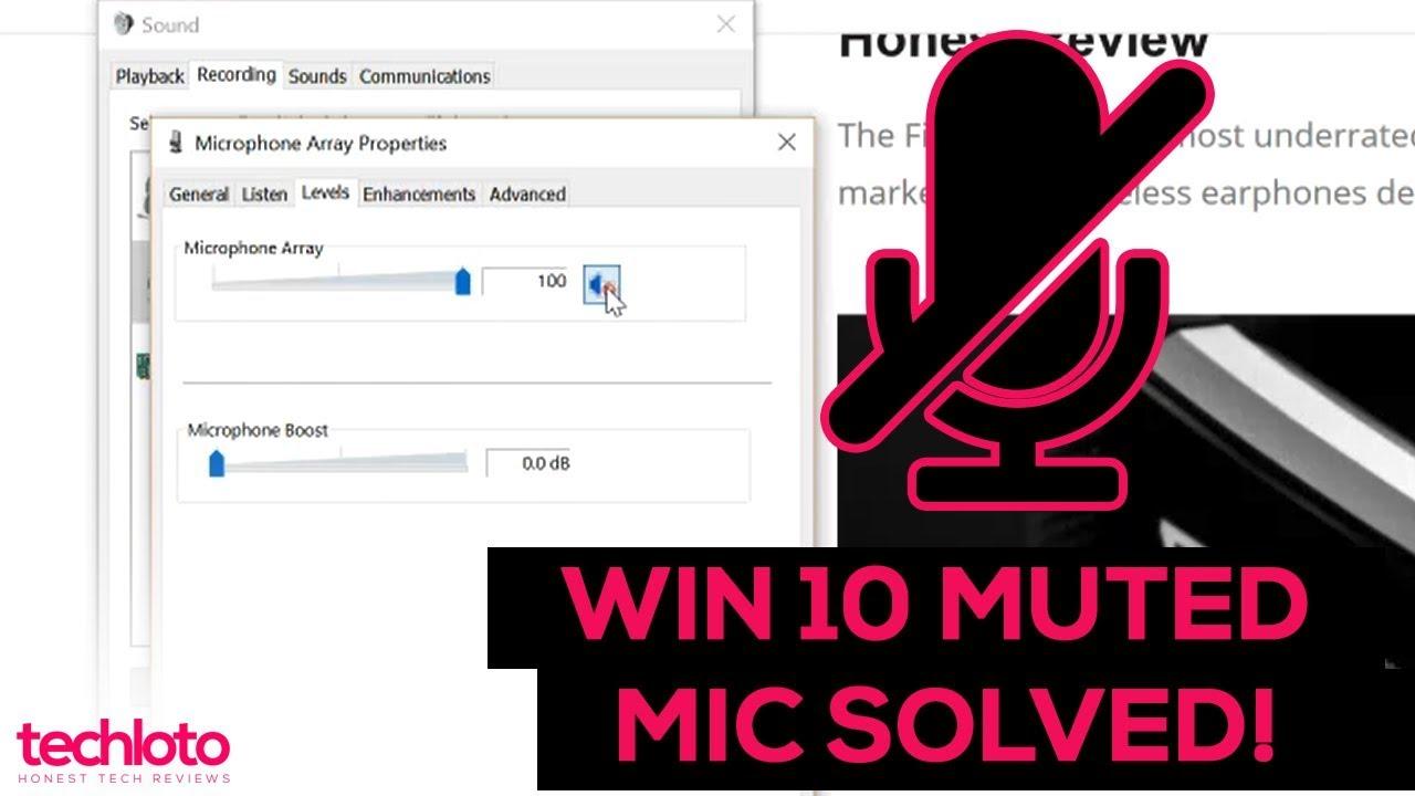 Microphone Keeps Muting Itself In Windows 10 2018 FIXED AT 1:34MIN (NO  ANTIVIRUS)
