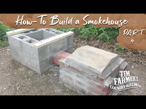 How-to Build a Smokehouse (Part 4 - Roof and Wood Frame)