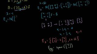 Linear Algebra: Finding Eigenvectors and Eigenspaces example (Bangla)