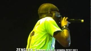 DISIP gazzman VS ZENGLEN kenny= KENNY DISRESPECT GAZZMAN ON STAGE @KOMPA FEST 2011