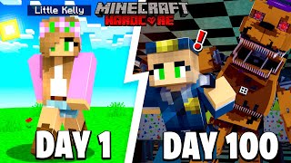 I Survived 100 DAYS in FNAF FREDDY'S PIZZERIA in Minecraft .. Here's What Happened