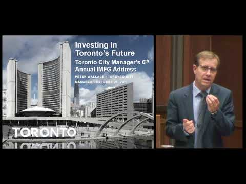 Toronto City Manager's 6th Annual IMFG Address