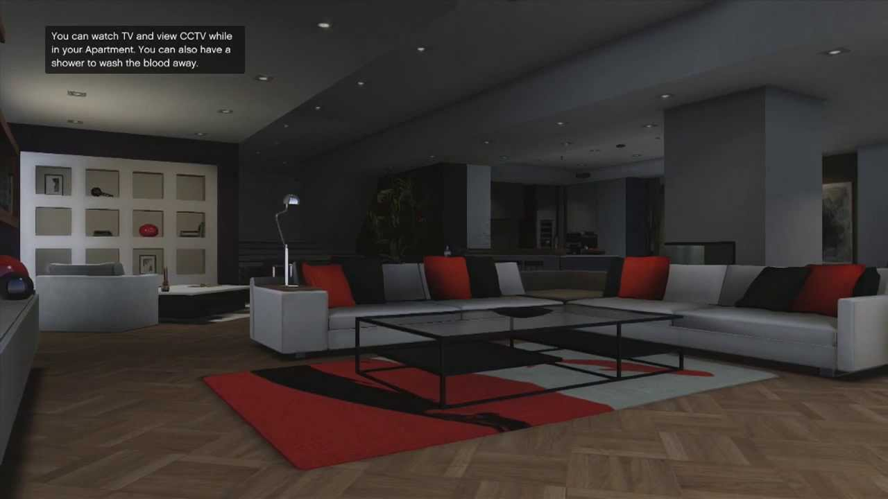Gta V 400k Apartment Tour 10 Car Garage