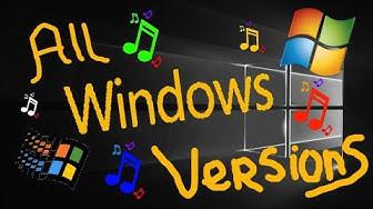 ALL MICROSOFT WINDOWS VERSIONS (1985-2018)