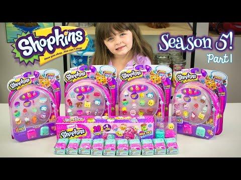 SHOPKINS SEASON 5 Unboxing Part 1! Shopkins Hunt For a Limited Edition Shopkin Kinder Playtime