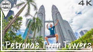PETRONAS TWIN TOWERS IN 4K | Kuala Lumpur | Barbster360 Travel Vlog
