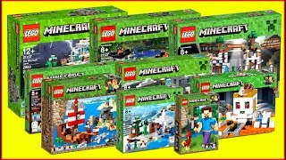 LEGO MINECRAFT COMPILATION of All Sets Speed Build UNBOXING