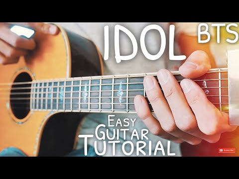 IDOL BTS Guitar Lesson for Beginners // IDOL Guitar // Guitar Tutorial #551