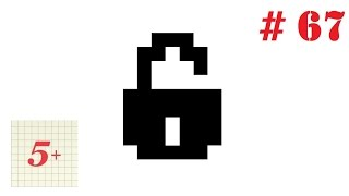 Простые рисунки по клеточкам # 67 Замок