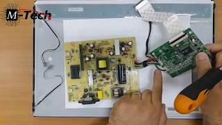 شاشات العرض بالسائل البلورى بالمربعات LCD Monitor Block Diagram