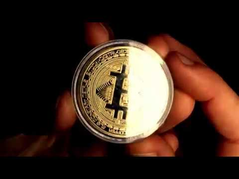 Bitcoin Coin  - Gold Plated Physical Bitcoin Coin For Collectors