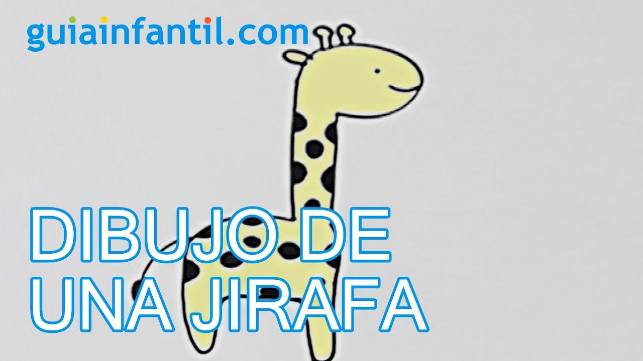 Cómo dibujar una jirafa - Manualidades para niños - YouTube
