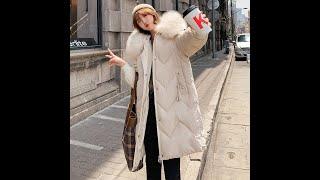Длинные 2019 новые модные тонкие женские меховые зимние куртки с хлопковой подкладкой теплые