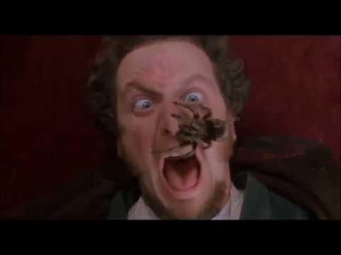 Home Alone Spider Scream scene