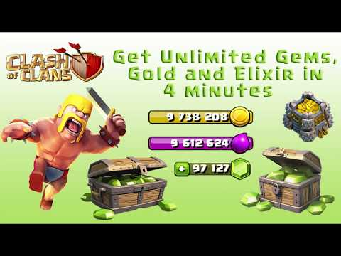 Clash Of Clans Hack, COC Unlimited Gems, Elixir Gold On Any Device 100% Working