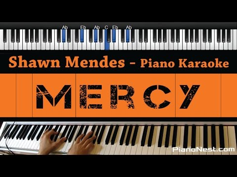 Shawn Mendes - Mercy - Piano Karaoke  Sing Along  Cover with