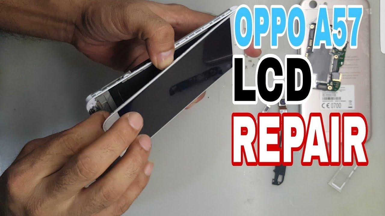 Oppo A57 Lcd Repair Cara Ganti Lcd Oppo A57 Youtube