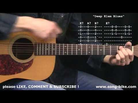 Deep Elem Blues  The Grateful Dead : 365 Songs For Beginning Guitar !!