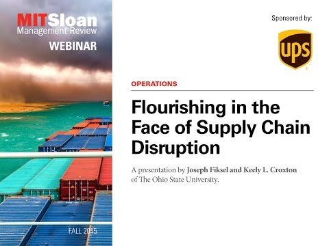 Flourishing in the Face of Supply Chain Disruption