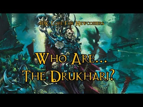 40k Lore For Newcomers Who Are The Drukhari 40k Theories