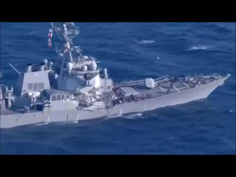 The Navy Destroyer USS Fitzgerald Collided With a Philippines ACX Crystal Merchant Vessel l 2017