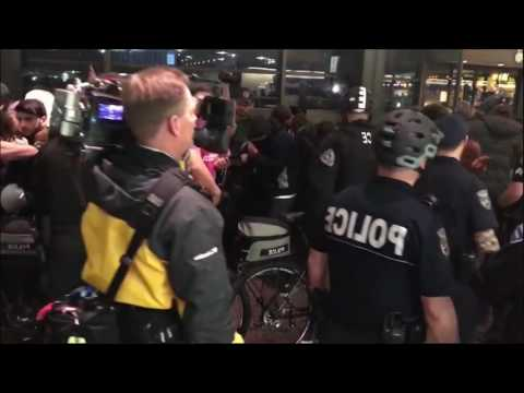 Protesters at Seattle-Tacoma International Airport