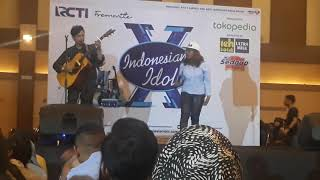 Wow, tinggi banget, Maria Simorangkir - Speechless, live audisi indonesian idol