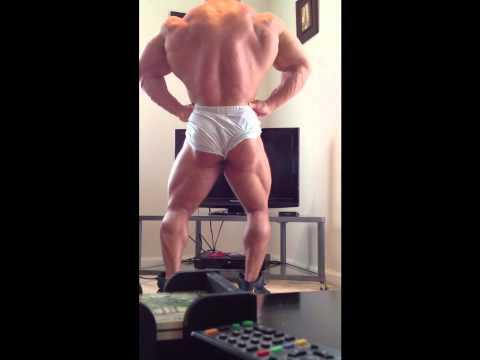 Bodybuilder Aaron Clark Posing Feb 2013