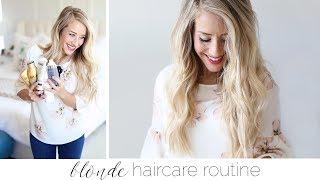 Blonde Haircare Routine   Twist Me Pretty