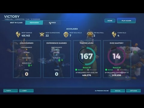 Paladins   Ranked Competitive gameplay   Evie Most Damage: Reprieve