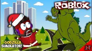 ROBLOX indonesia #62 Godzilla Simulator | OMG! Di Kejar Godzilla Besar Tidakkkkk