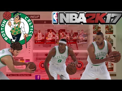 DIAMOND DAVE COWENS THE GOAT|  NBA 2K17 MY TEAM ALL-TIME BOSTON CELTICS LINEUP GONE WRONG!