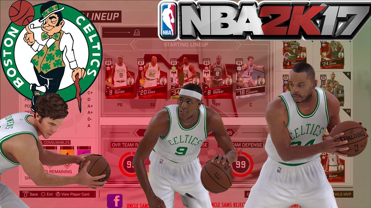 DIAMOND DAVE COWENS THE GOAT NBA 2K17 MY TEAM ALL TIME BOSTON