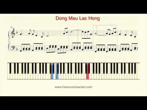 "How To Play Piano: ""Dong Mau Lac Hong"" Piano Tutorial by Ramin Yousefi"