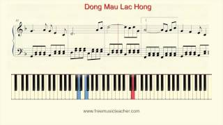 "How To Play Piano: ""Dong Mau Lac Hong"" Piano Tutorial by Ramin Yousefi"